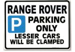 Range Rover Parking Sign-Gift for  v8 4.6 hse tdi 300 models- Size Large 205 x 270mm